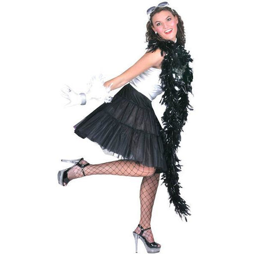 Black Material Girl Petticoat - Make It Up Costumes