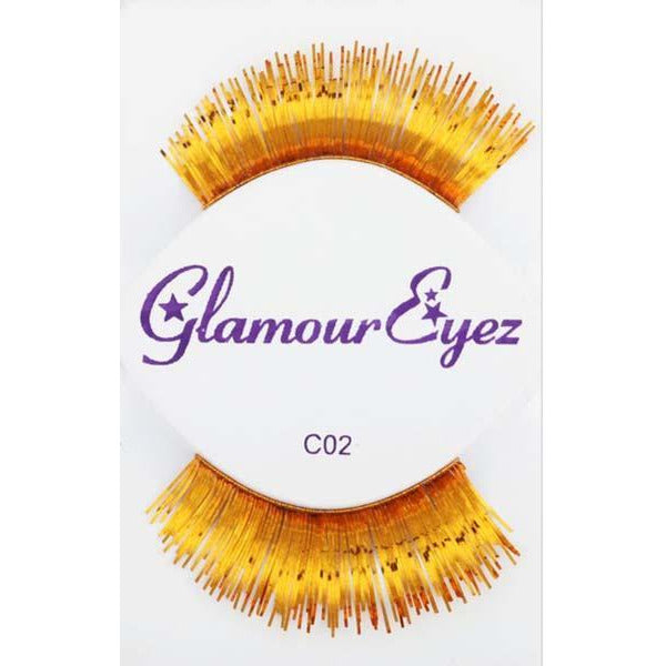Metallic Gold Lashes - Make It Up Costumes