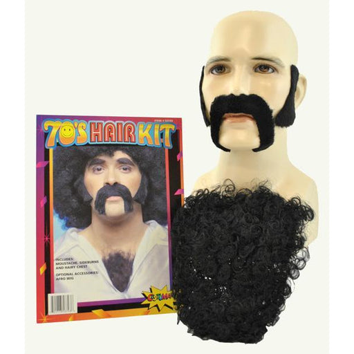 70's Facial Hair Costume Kit - Make It Up Costumes