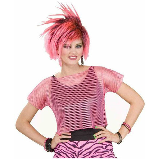 80's Pink Mesh Top - Make It Up Costumes