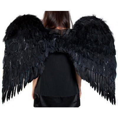 Large Black Feather Angel Wings - Make It Up Costumes