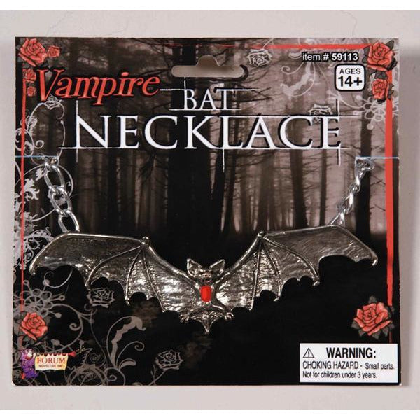 Gothic Bat Vampire Necklace - Make It Up Costumes