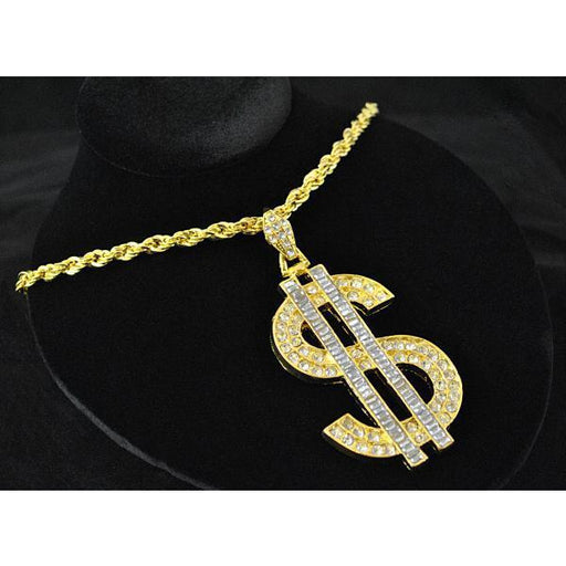 Big Daddy Gold Dollar Sign Chain Necklace - Make It Up Costumes