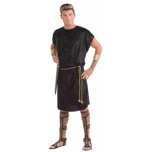 Men's Black Tunic Costume with Rope Belt - Make It Up Costumes