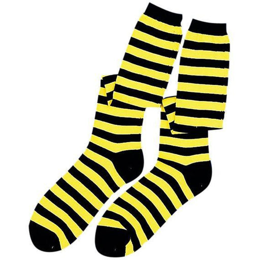 Black and Yellow Striped Bee Socks - Make It Up Costumes