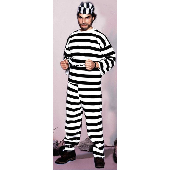 Striped Prisoner Costume - Make It Up Costumes