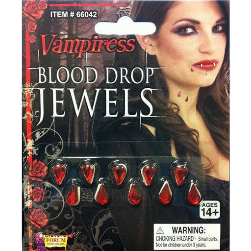 Fake Blood Drop Jewels - Make It Up Costumes