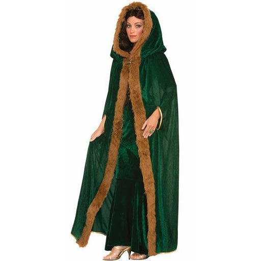 Faux Fur Trimmed Cape - Make It Up Costumes
