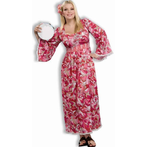 Women's Plus Size Hippie Costume - Pink - Make It Up Costumes