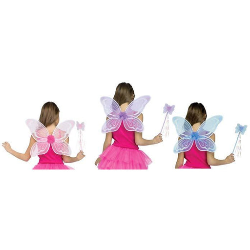 Pastel Fairy Wings and Wand Set - Make It Up Costumes