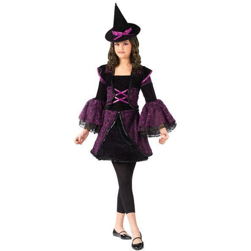 Girl's Witch Costume - Black & Purple - Make It Up Costumes