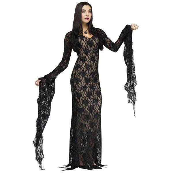 Black Lace Gothic Dress - Make It Up Costumes