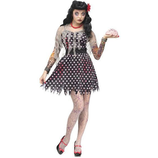 Rockabilly Zombie Costume for Women - Make It Up Costumes