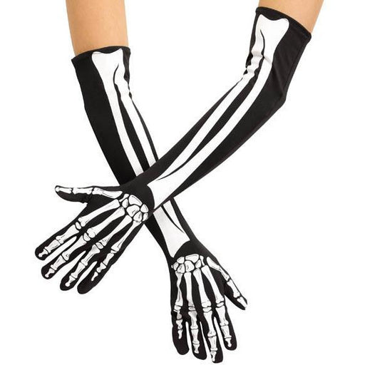 Opera Length Skeleton Gloves - Make It Up Costumes