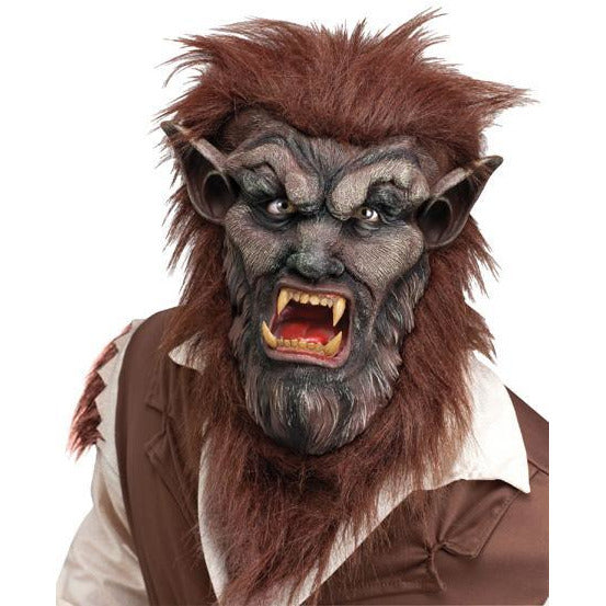 Brown Wolf Man Mask - Make It Up Costumes