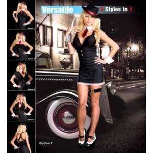1920s Gangster Dress 5 styles in 1 - Make It Up Costumes