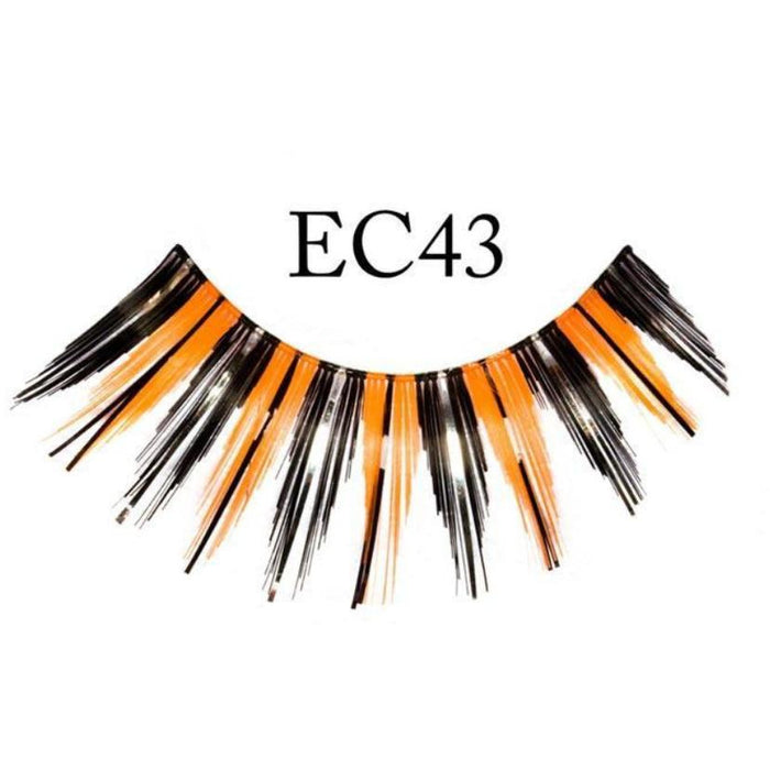 Black and Orange Halloween Lashes - Make It Up Costumes