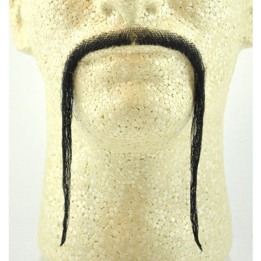 Long Fake Fu Manchu Mustache with Human Hair - Make It Up Costumes