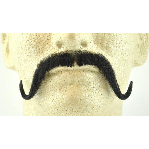 Fake Musketeer Handlebar Mustache CM15 with Human Hair - Make It Up Costumes