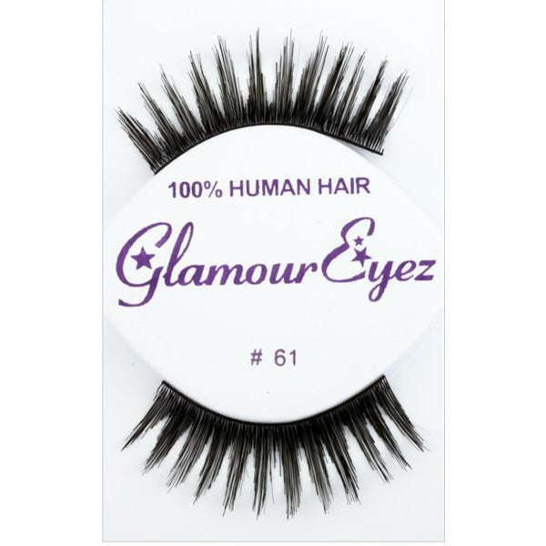 Black Thick Glamorous Lashes - #61 - Make It Up Costumes