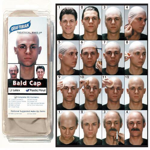 Glatzan Vinyl Bald Cap - Make It Up Costumes