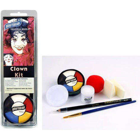 Graftobian Clown Makeup Kit - Make It Up Costumes