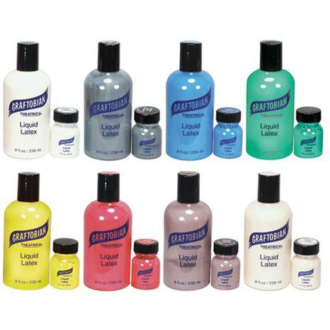 Graftobian Colored Liquid Latex - 8 Color Options - Make It Up Costumes