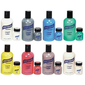 Graftobian Colored Liquid Latex - 8 Colors - Make It Up Costumes