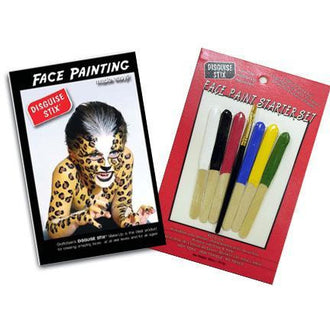 Graftobian Face Painting Book and Starter Kit for Beginners - Make It Up Costumes