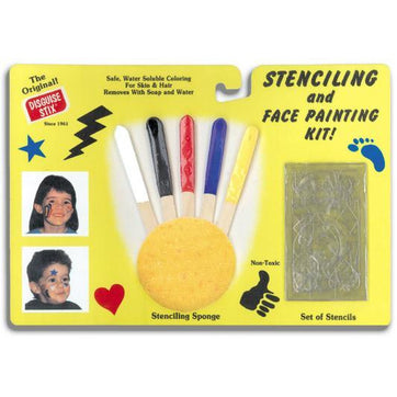 Graftobian Face Painting Makeup and Stencils Kit for Beginners - Make It Up Costumes