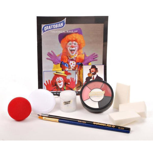 Graftobian Auguste and Hobo Clown Makeup Kit - Make It Up Costumes