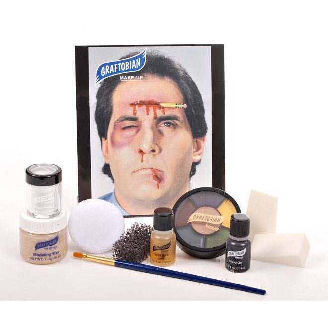 Graftobian Severe Trauma and Wound Makeup Kit - Make It Up Costumes
