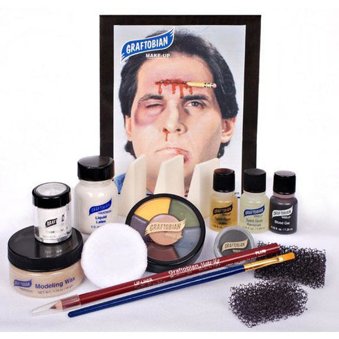 Graftobian Deluxe Severe Trauma and Wound Makeup Kit - Make It Up Costumes