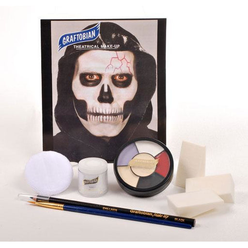 Graftobian Skull Makeup Kit - Make It Up Costumes