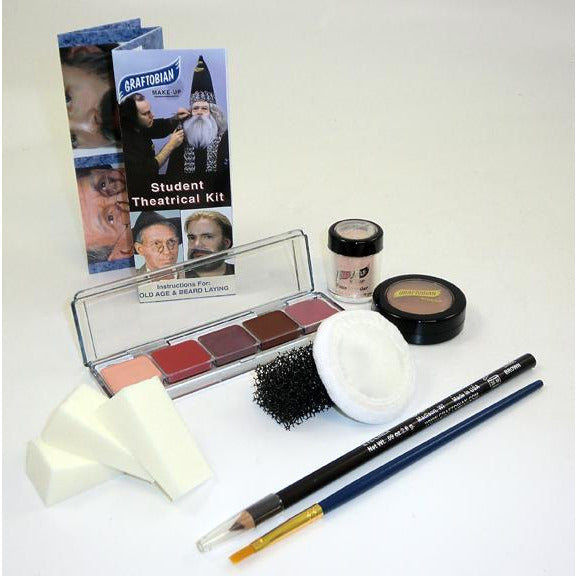 Graftobian Personal Theatrical Makeup Kit for Students - Make It Up Costumes