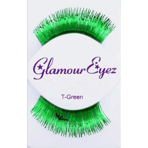 Metallic Green Lashes - Make It Up Costumes