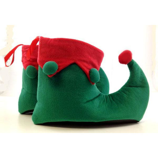 Green and Red Elf Shoes - Make It Up Costumes