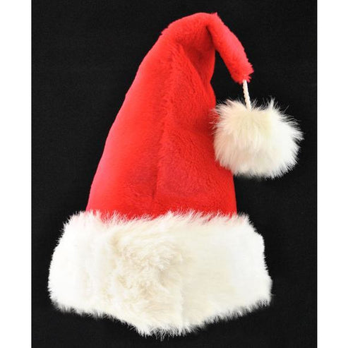 Plush Red Santa Hat - Make It Up Costumes