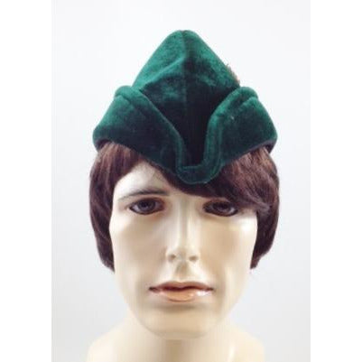 Green Nottingham Hat with Feather - Make It Up Costumes