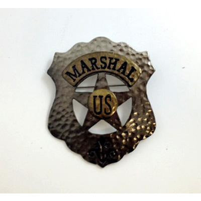 Metal US Marshall Badge Prop - Make It Up Costumes