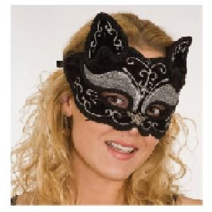 Glitter Cat Costume Mask - Make It Up Costumes