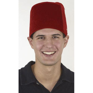 Velvet Red Fez Hat - Make It Up Costumes
