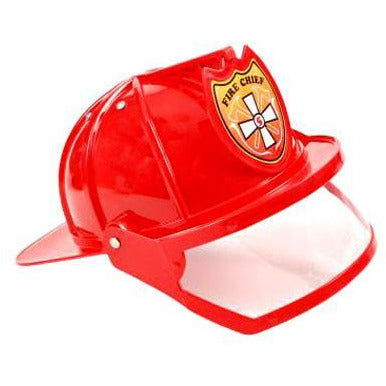 Red Fireman Hat with Visor - Make It Up Costumes