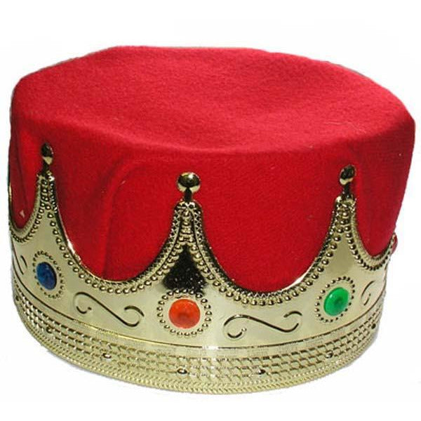 King's Costume Crown Gold with Red Insert - Make It Up Costumes