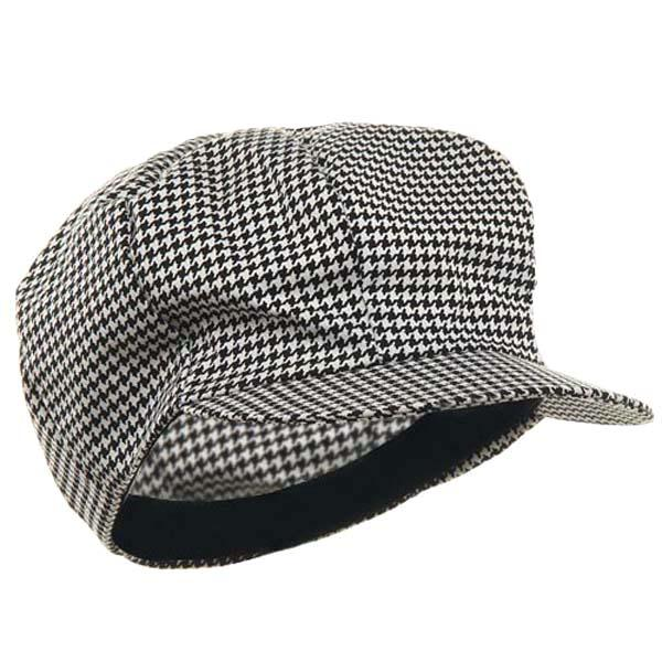 Houndstooth Newsboy Cap - Make It Up Costumes