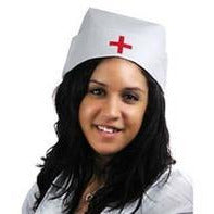White Nurse Hat - Make It Up Costumes