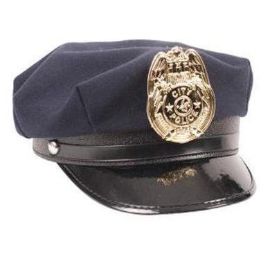 Police Costume Hat and Badge - Make It Up Costumes
