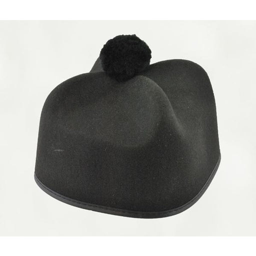Black Priest Hat w/Pom - Make It Up Costumes