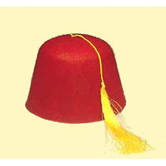 Red Fez Hat - Make It Up Costumes