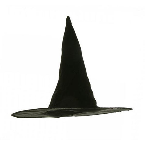 Flocked Velvet Witch Hat - Make It Up Costumes